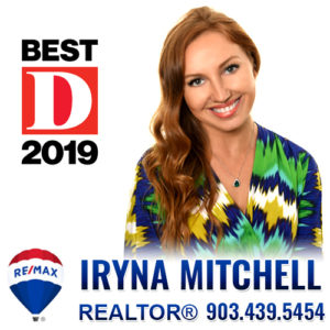 Iryna Mitchell - Realtor at RE/MAX DFW Associates. Call 903-439-5454 for all your real estate needs in the DFW area
