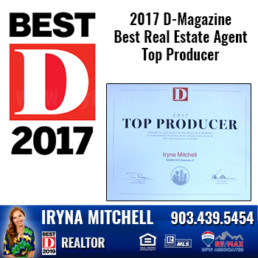 Iryna Mitchell - Top Producing DFW Realtor Won 2017 D-Magazine Best Real Estate Agent-Top Producer Award