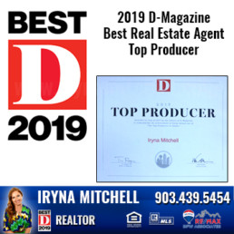 Iryna Mitchell - Top Producing DFW Realtor Won 2019 D-Magazine Best Real Estate Agent-Top Producer Award