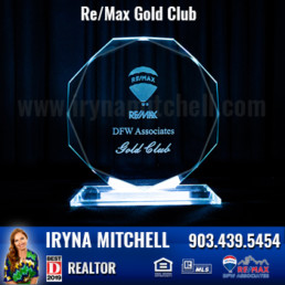 Iryna Mitchell - Top Producing DFW Realtor Won Gold Club Award